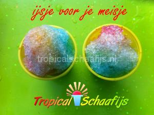 Schaafijs ijsjevoormeisje Schaafijs